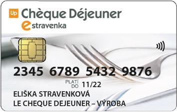 Cheque dejeuner elektronická